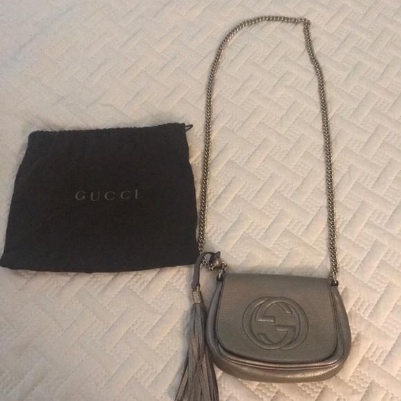860c6163abf0a4 Gucci Bags | Soho Chain Flap Metallic Gold Leather Bag | Poshmark